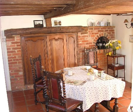 The Dining Room in the cottage, ready for breakfast